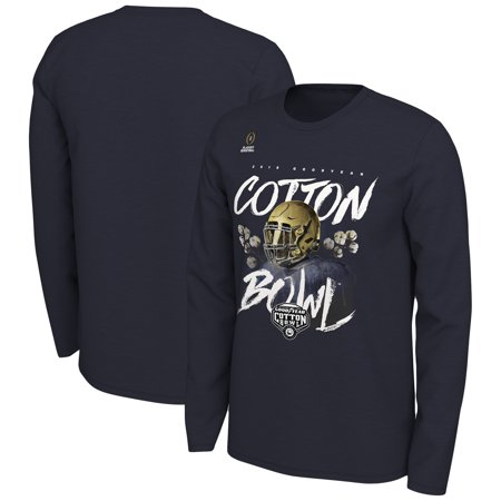 Notre Dame Fighting Irish Nike College Football Playoff 2018 Cotton Bowl Bound Illustration Long Sleeve T-Shirt - Navy