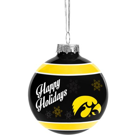 Iowa Hawkeyes Official NCAA Holiday Christmas Ornament Glass Ball by  Forever Collectibles 466864 - Walmart.com - Iowa Hawkeyes Official NCAA Holiday Christmas Ornament Glass Ball By