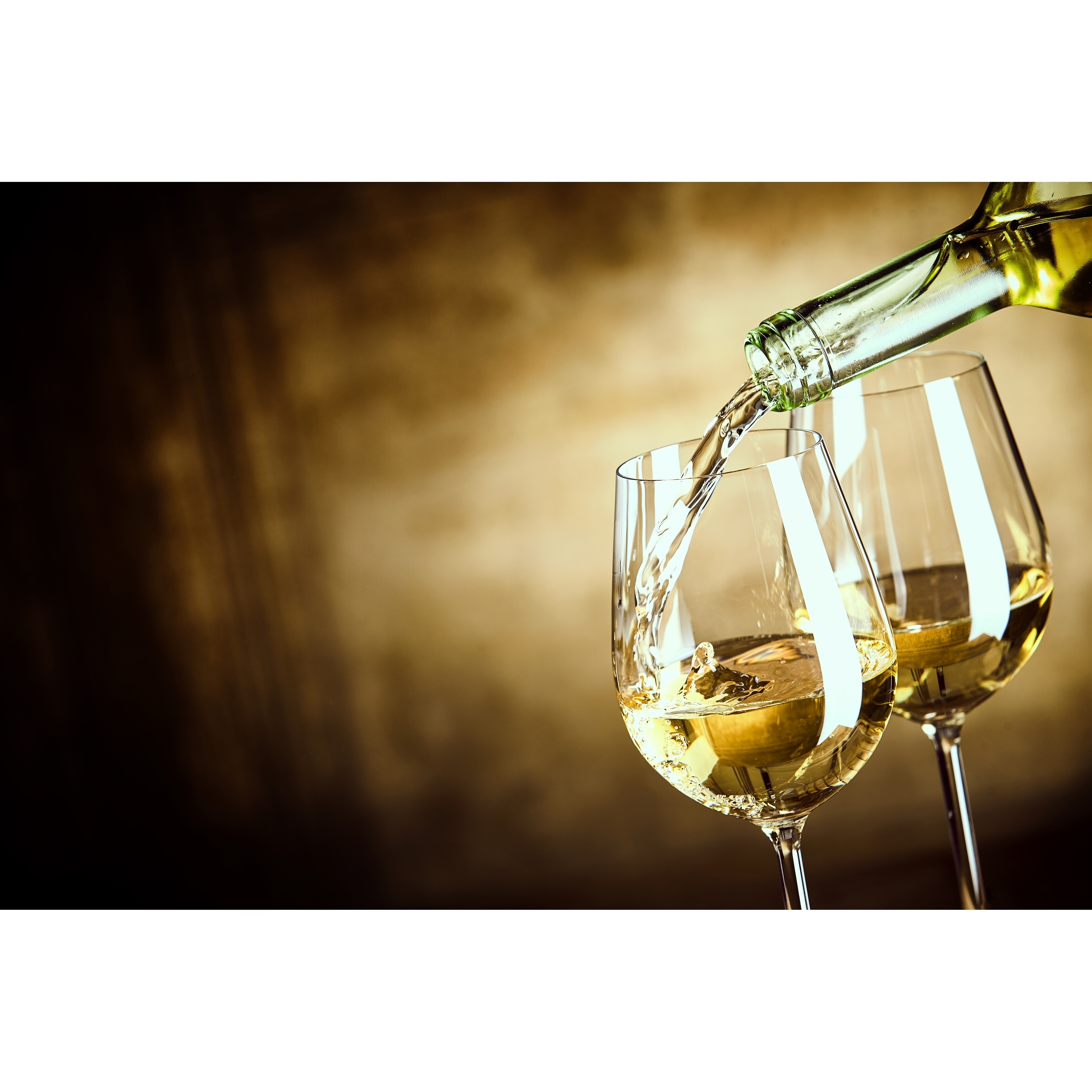 """Dainty Home White Wine Foam Placemat, 13""""x19"""", Set of 4"""