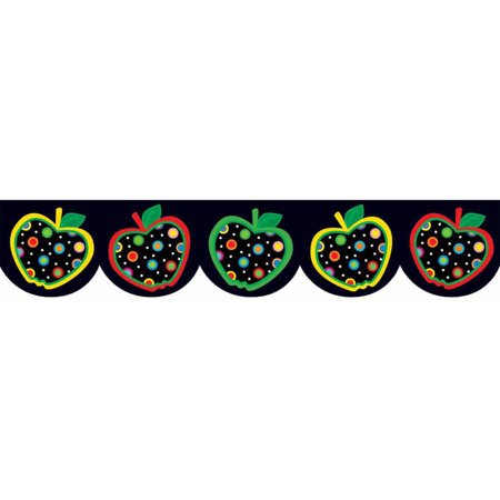Creative Teaching Press Dots on Black Apples Border (Dot Border)