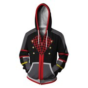 2019 Womens Hoodies Kingdom Hearts 3D Printing Sport Casual Loose Zipper Coat Fashionable Hoodie Autumn and Winter