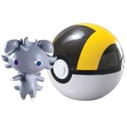 Pokemon TOMY Clip n Carry Pokeball Espurr & Ultra Ball Figure Set