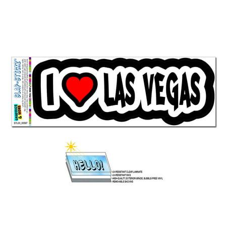 I Love Heart Las Vegas - Nevada SLAP-STICKZ(TM) Premium Sticker
