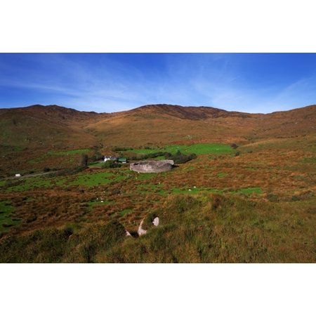 Staigue Fort at 2500 years old one of the best preserved Cashels or Forts in Ireland Ring of Kerry County Kerry Ireland Stretched Canvas - Panoramic Images (36 x