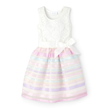 Sheer Ribbon Stripe Easter Dress (Little Girls & Big Girls) - Easter Dresses For Adults