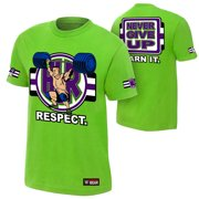 """Official WWE Authentic John Cena """"Cenation Respect"""" Youth  T-Shirt Lime Green Small"""