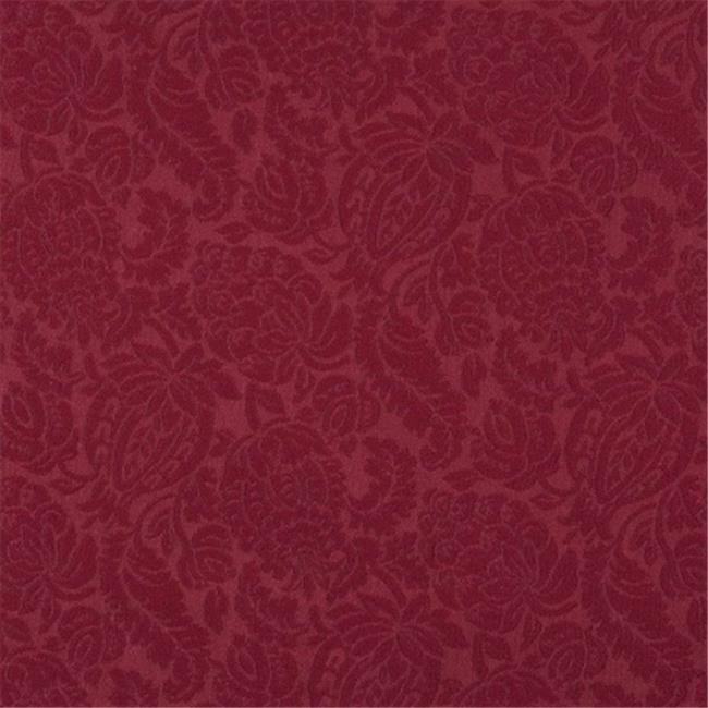 Designer Fabrics E558 54 in. Wide Red, Floral Jacquard Woven Upholstery Grade Fabric