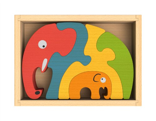 BeginAgain Elephant Family Puzzle Preschool Puzzle Game Animal Game and C... by Begin Again