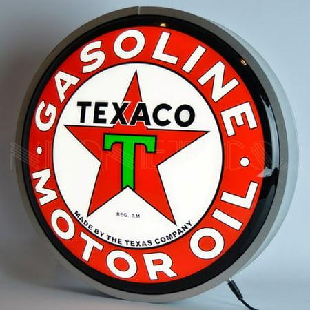 Backlit Window Sign (Neonetics Texaco Motor Oil Backlit LED Lighted)