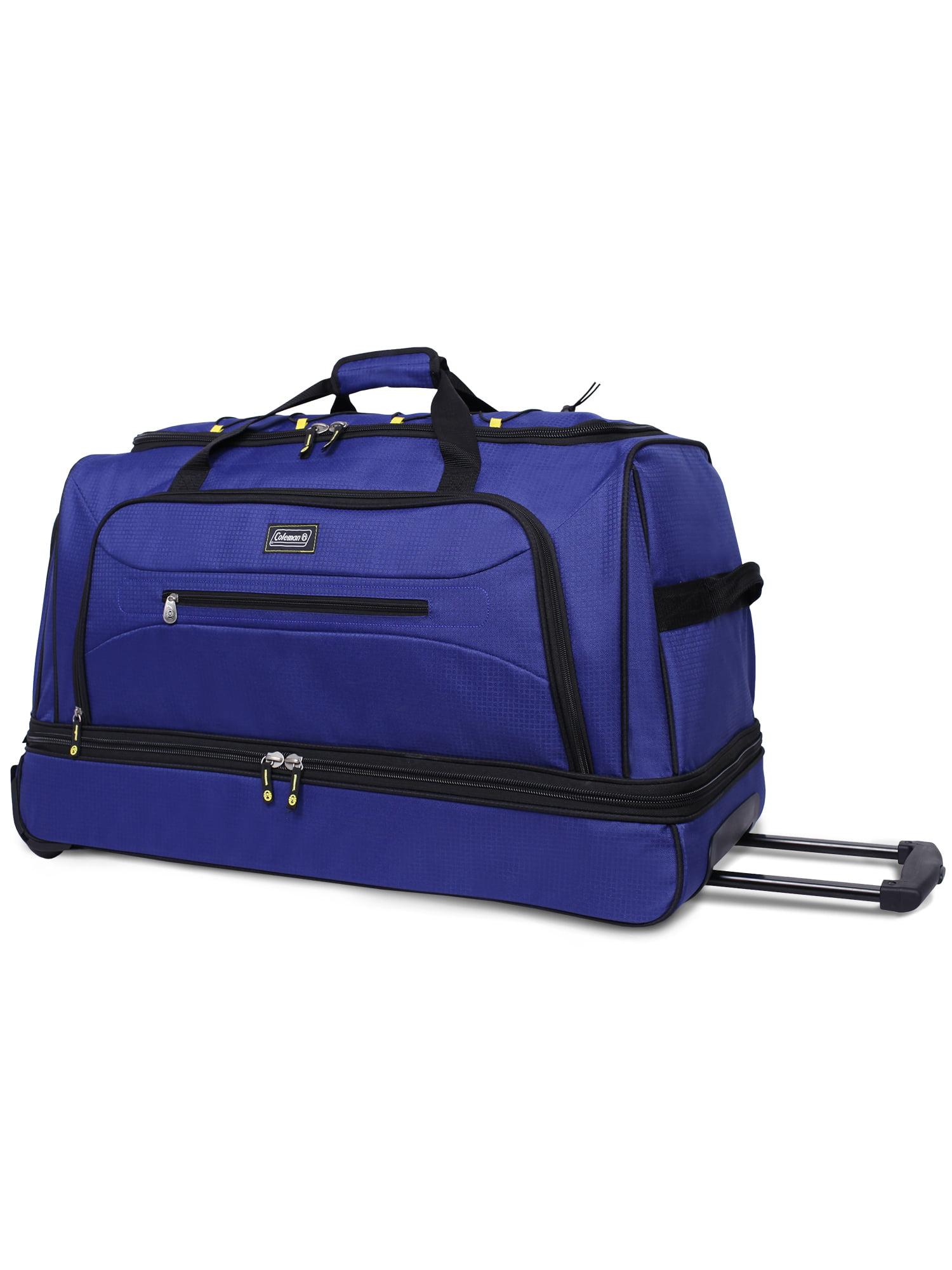 Coleman 30in Rolling Drop Bottom Duffel Bag, Blue