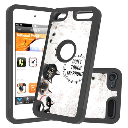 [Cute Design] iPod Touch 7 Case, iPod Touch 6 Case, iPod Touch 5 Case, Dteck Hybrid Shockproof Heavy Duty Protective Case Cover for iPod Touch 5th/6th/7th Generation, Don't Touch My (My Ipod Classic Won T Turn On)