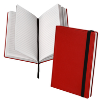 Classic Hardbound Notebook Journal, 5-1/4 x 8-1/4 Inches, Red, 120 Sheets