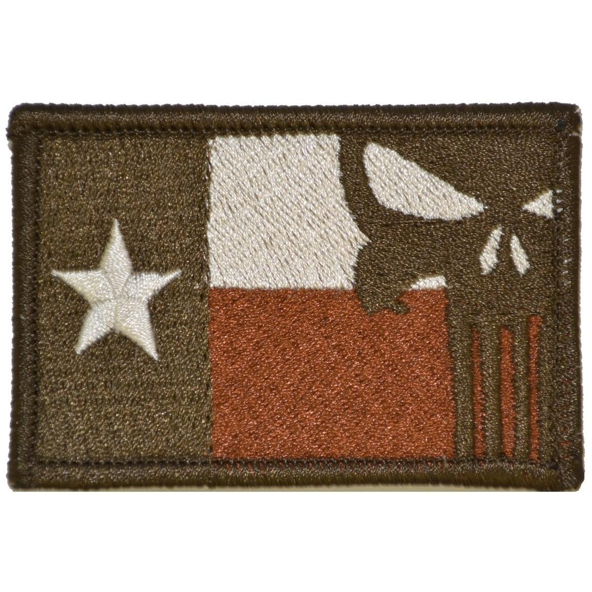 Texas State Flag with Punisher Skull - 2x3 Patch