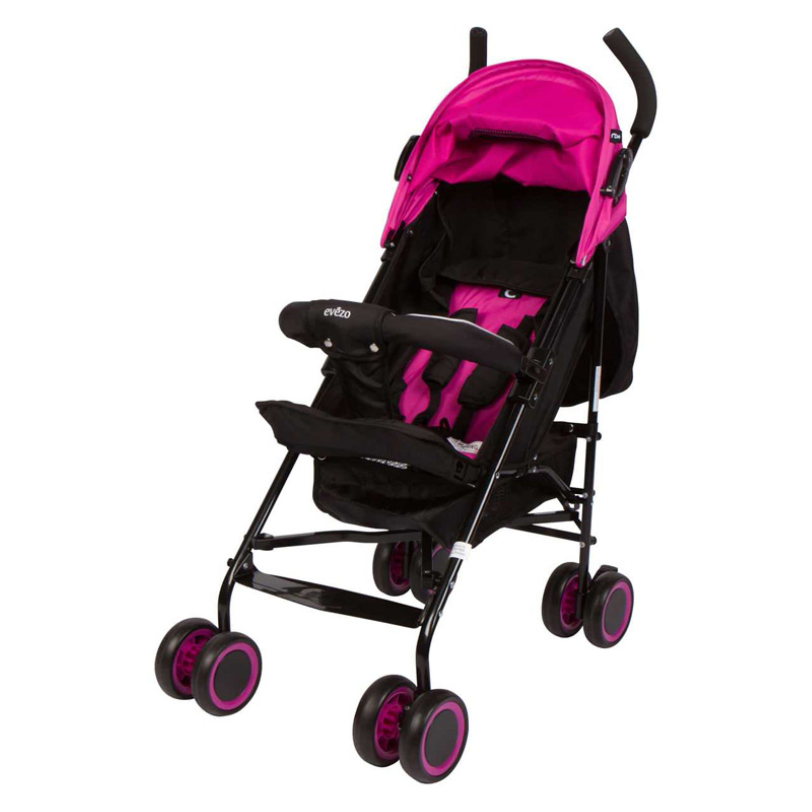 Evezo Lightweight Adjustable Baby Stroller - Pink