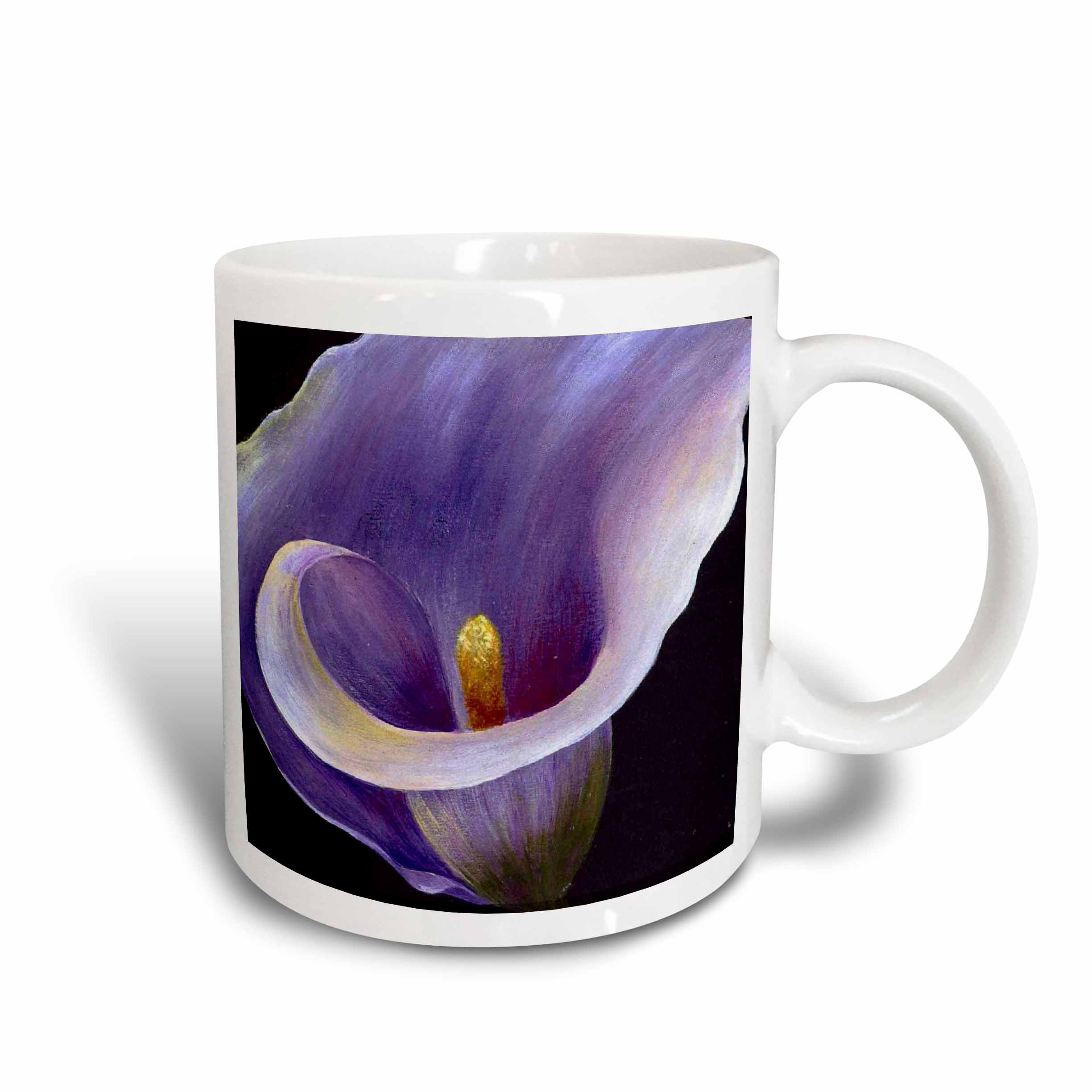 3dRose Purple Calla Lilies, Ceramic Mug, 15-ounce