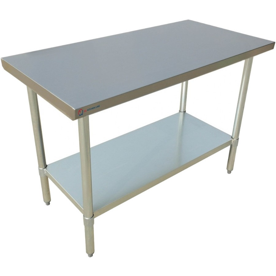 "EQ Kitchen Line Stainless Steel Restaurant Kitchen Prepare Work Surface Table 60""Lx24""Wx34""H"
