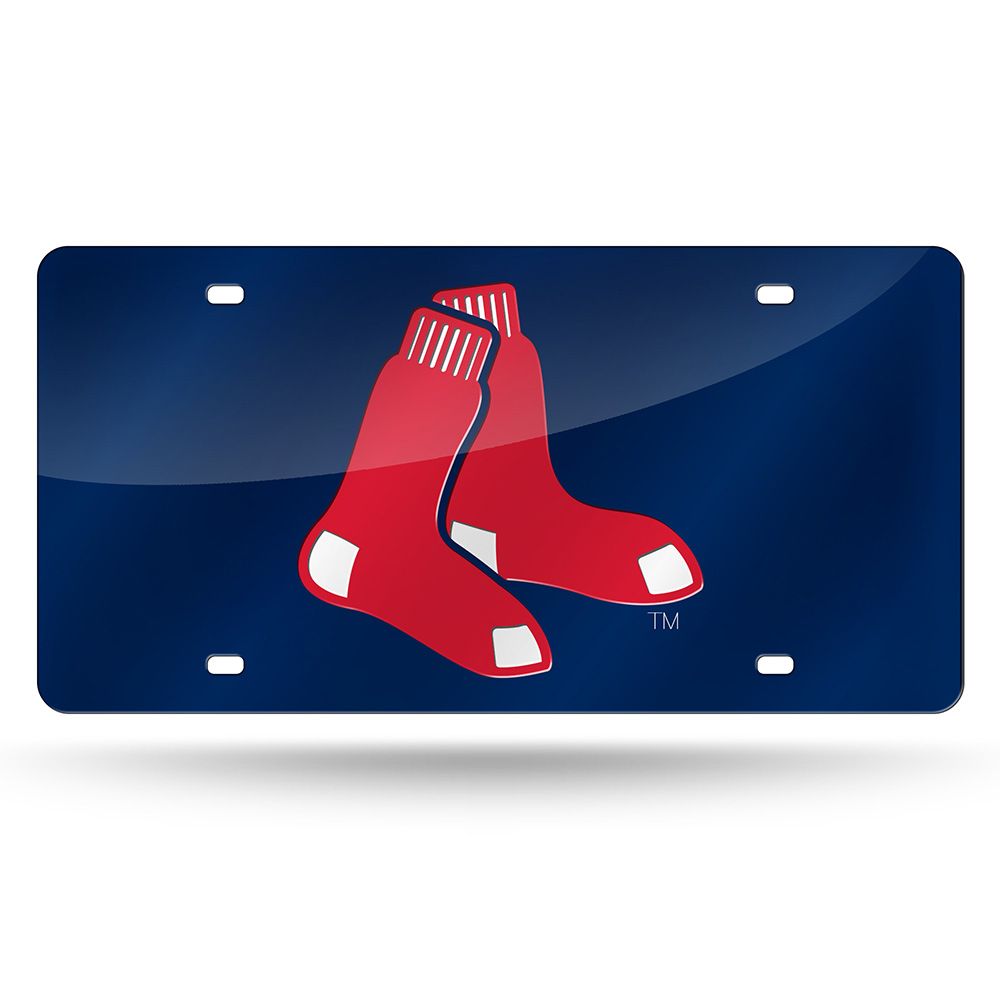 Boston Red Sox Official MLB 12 inch x 6 inch  Laser Cut License Plate by Rico Industries