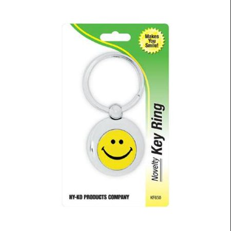 Smiley Face Charts - Key Chain, Smiley Face, Silver, Hy-Ko, KF650