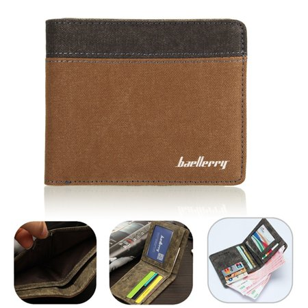 Mens Luxury Soft Quality Wallet Credit Card Holder Purse ID Window Pouch Gift (Credit Card Reader Pouch)