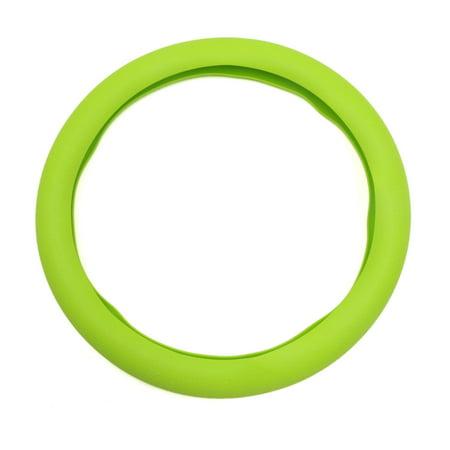 32cm Outer Dia. Car Rubber Antislip Comfortable Steering Wheel Cover Green ()