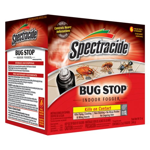 Spectracide Bug Stop Indoor Fogger, 6-Pack, 12-Ounces