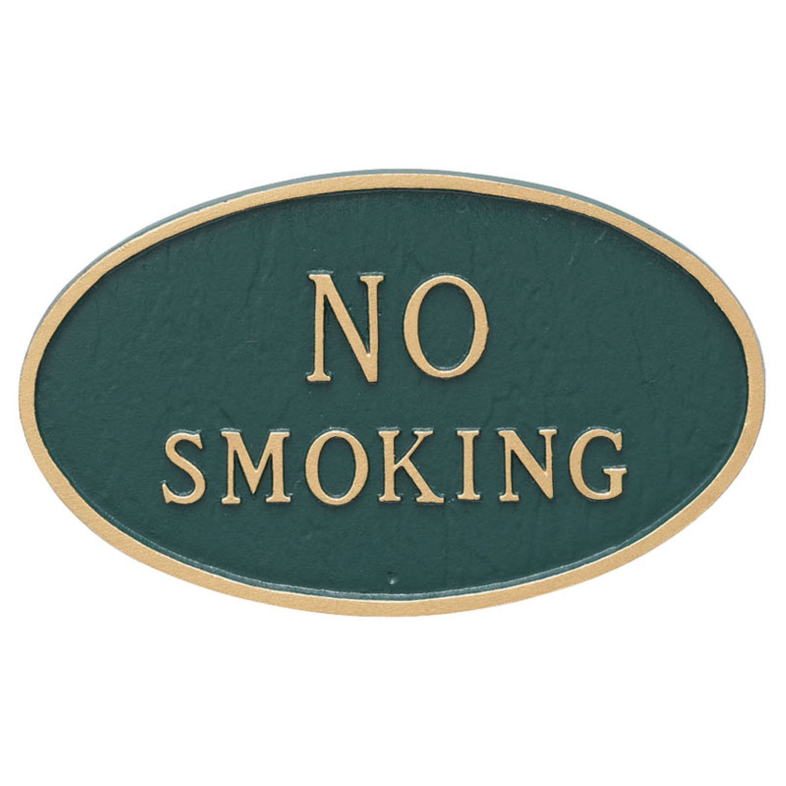 Montague Metal Products No Smoking Oval Wall Plaque