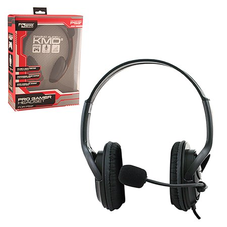kmd wired professional gaming headset with microphone for sony playstation 3 and 4 black