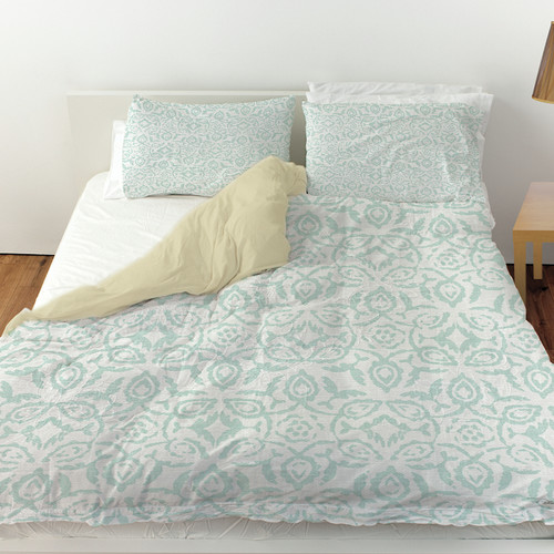 Manual Woodworkers & Weavers Flowing Damask 2 Duvet Cover