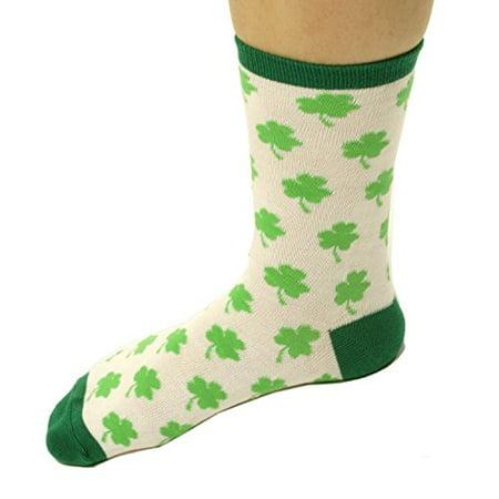 Amscan Womens St. Patrick's Day Clover Socks (1 - St Pattys Day Socks