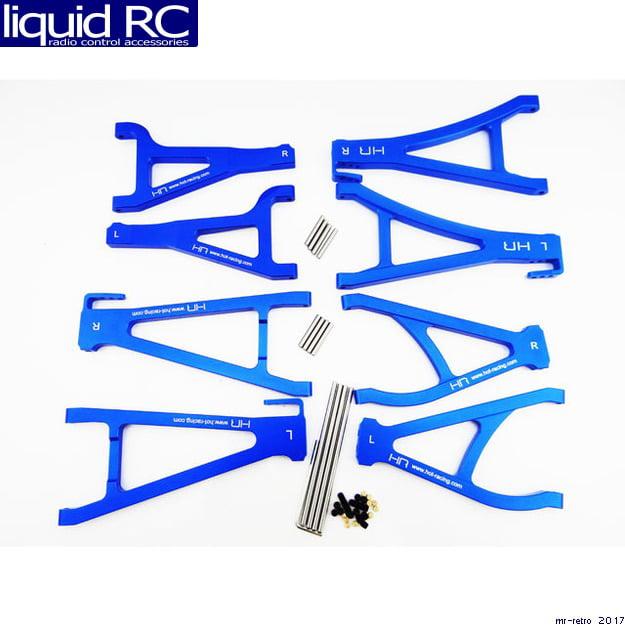 Silver 8 Hot Racing RVO5467M08 Aluminum Complete Arm Set - Tra Summit E-Revo