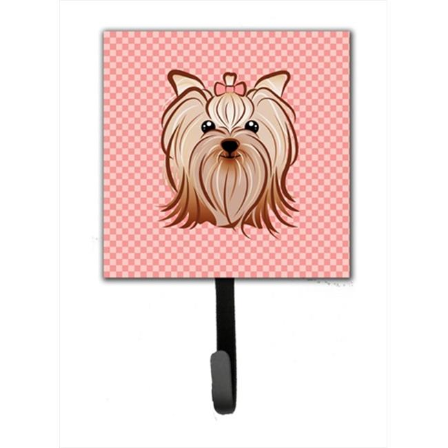 Carolines Treasures BB1138SH4 Pink Checkered Yorkie And Yorkshire Terrier Leash or Key Holder - image 1 de 1