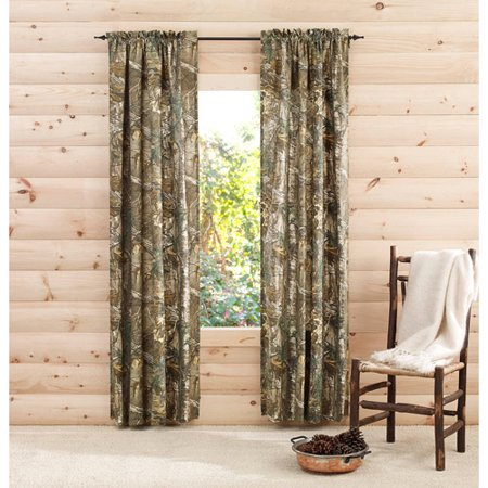 Curtains Ideas cheap camo curtains : RealTree Xtra Camo Curtain Panels, Set of 2 - Walmart.com