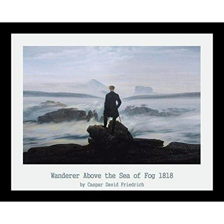 buyartforless FRAMED Wanderer Above the Sea of Fog 1818 by Caspar David Friedrich 14x11 Museum Art Print (Wanderer Above The Sea Of Fog Print)