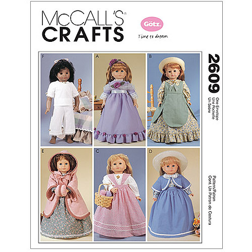 """McCall's Pattern Clothes For 18"""" Doll, 1 Size Only"""