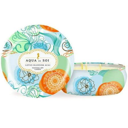 SOI Company Aqua de SOi 100% Premium Natural Soy Candle, Triple Wick, 21 Ounces (Lotus Blossom Acai)