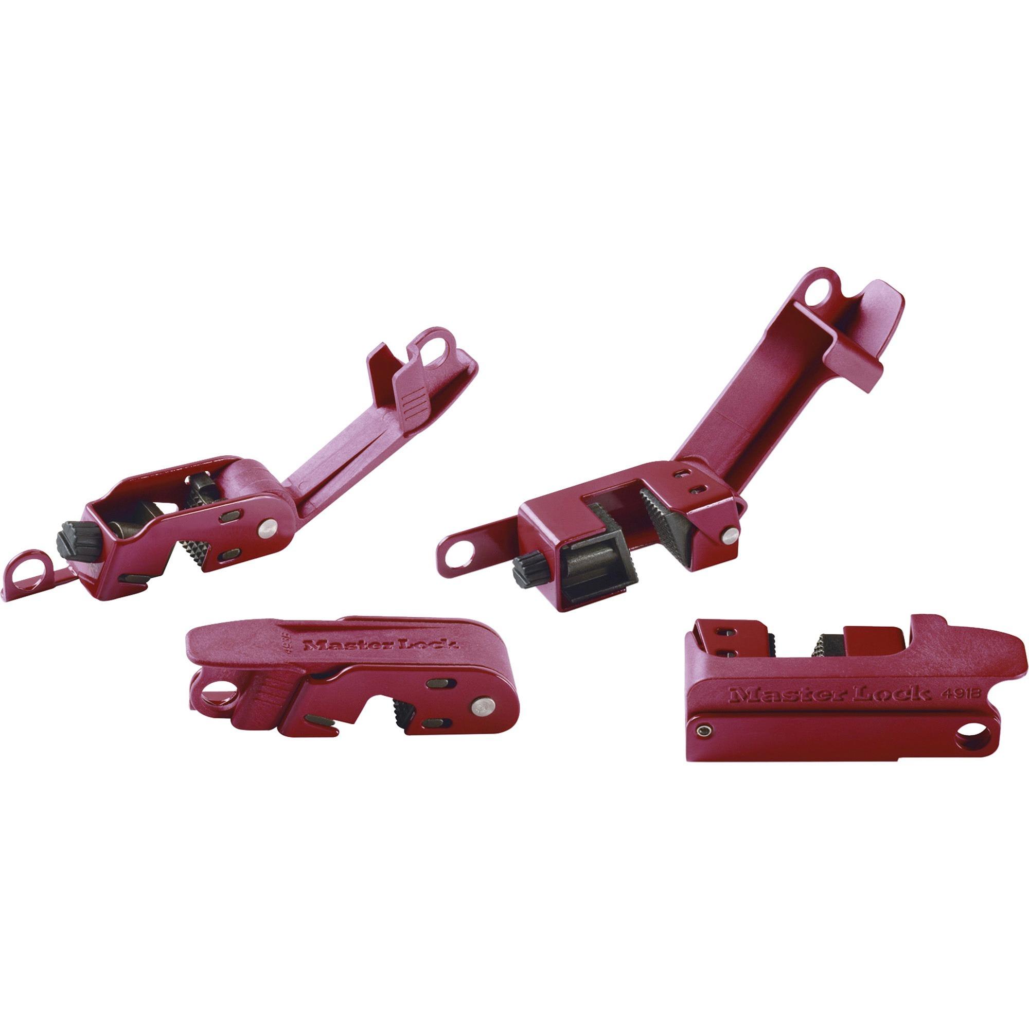 Master Lock, MLK506, Circuit Breaker Lockout Set, 1 Each, Red