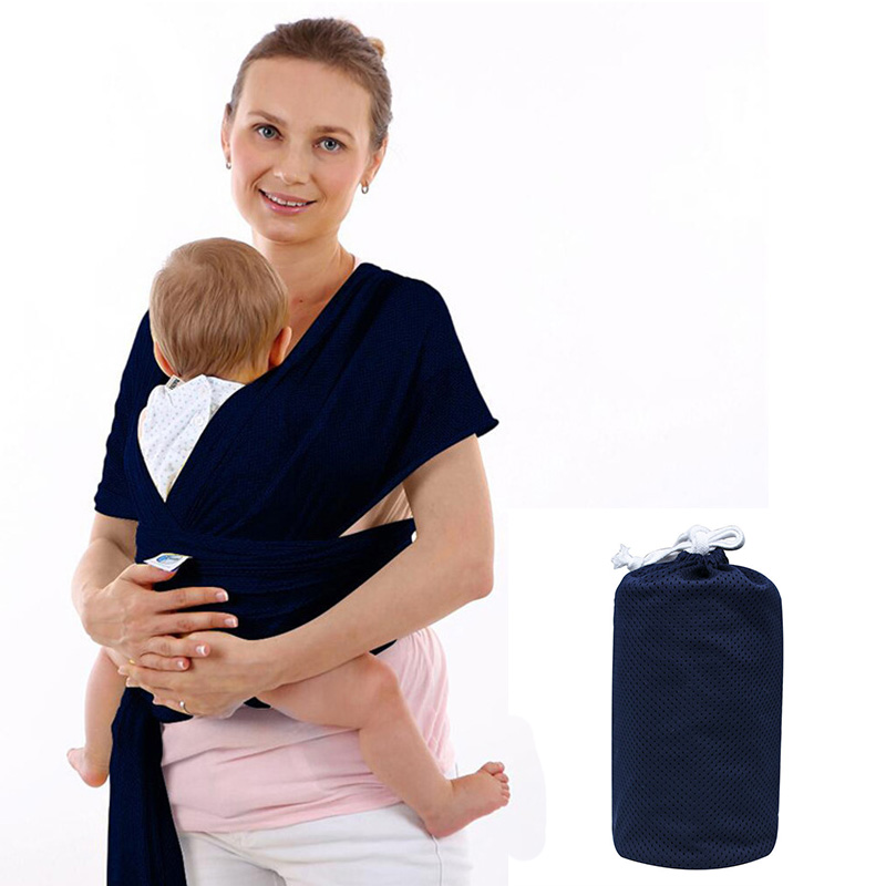 2 Adjustable Aluminum Ring Child Carrier Baby Sling Conveyor Elastic