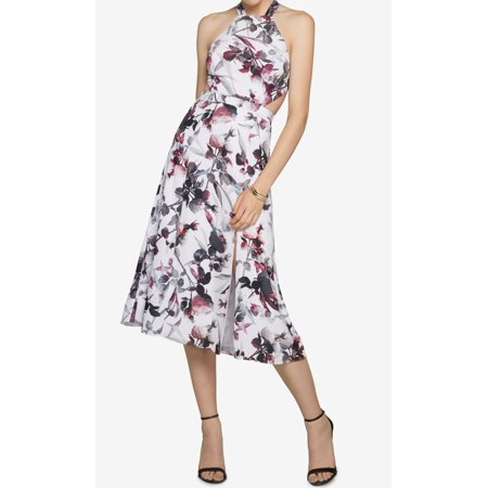 Fame And Partners New White Womens Size 4 Floral Print Sheath Dress
