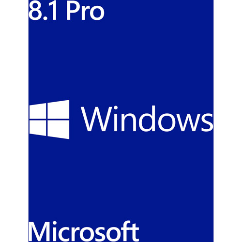 Microsoft Windows 8.1 Pro 64-Bit Software (PC), 1pk