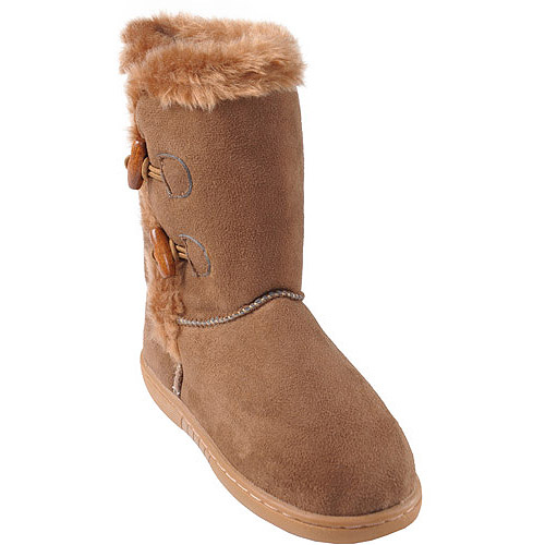 Brinley Co Girls Side Toggle Accent Boots