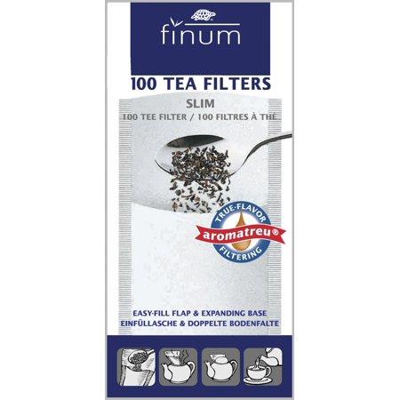 Finum Tea Filters (Finum Tea Filters Small English Green Herbal Hot Fix To Rim Of Pot/Kettle 100Pc )