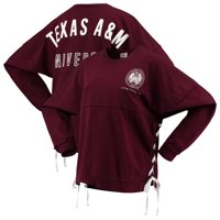 Texas A&M Aggies Women's Chunky Side Lace-Up Spirit Jersey T-Shirt - Maroon