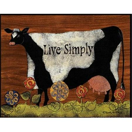 CO-PEN C01HILL184 vivant simplement Copie d'affiche de vache par Lisa Hilliker -10 x 8 - image 1 de 1