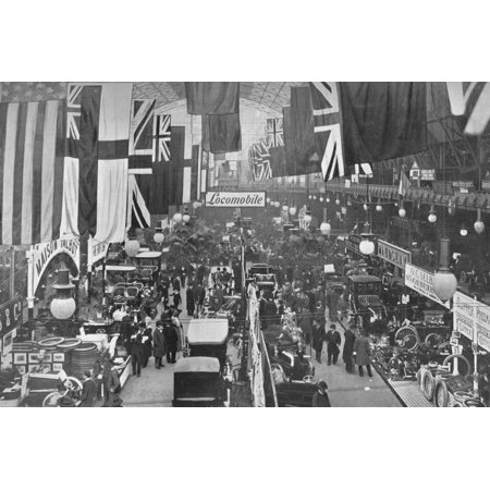 At an automobile exhibition, Agricultural Hall, Islington, London, 1902 (1903) Print Wall Art