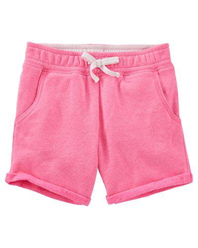 OshKosh B'gosh Big Girls' Neon French Terry Bermuda Shorts - Pink - 7 Kids