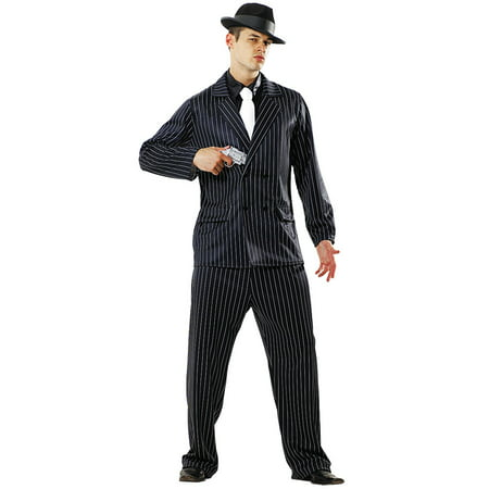 Boo! Inc. Gin Mill Gangster Halloween Costume for Men | Criminal Cosplay & Dress Up - Costplay Costume