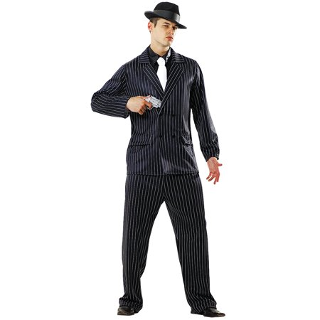 Boo! Inc. Gin Mill Gangster Halloween Costume for Men | Criminal Cosplay & Dress Up (Halloween Dress Up Man)