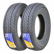 Set of 2 New Premium FREE COUNTRY Trailer Tires ST 205/75R15 8PR/Load Range D w/Scuff Guard