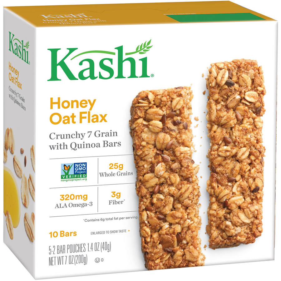 Kashi Honey Oat Flax Crunchy 7 Grain with Quinoa Bars 5-1.4 oz.