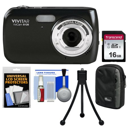 Vivitar ViviCam S126 Digital Camera (Black) Bundle Digital Blue Vivitar Vivicam